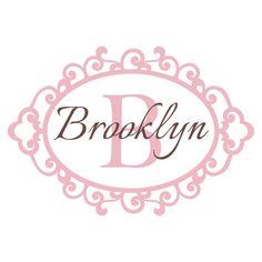 Personalized Vinyl Initial & Name Wall Decal - Shabby Chic Scroll Monogram Baby Girl Nursery Toddler Teen Room Wall Art 22H x 32W GN022 via Etsy