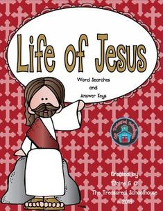 <p>This is a set of 11 word searches that are all about the life of Jesus. Each puzzle pertains to a different part of his life. There is an answer key for each puzzle as well. </p><p> </p><p>The word searches included are:</p><p> The Birth of Jesus</p><p> The Apostles</p><p> Jesus and the Children (Mark 10:13-16)</p><p> The Travels of Jesus</p><p> The Names of Jesus</p><p> The Beatitudes (Matthew 5:3-10)</p><p> Jesus Life</p><p> Miracles</p><p> Parables</p><p> Stations of the Cross</p><p…