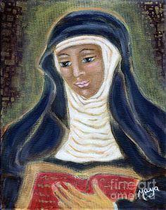 Hildegard Von Bingen Painting by Maya Telford - Hildegard Von Bingen Fine Art Prints and Posters for Sale