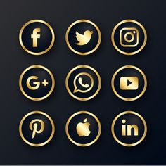 Luxury golden social media icon PNG and Vector Instagram Logo, Instagram White, Web Banner Design, Icon Design, Logo Design, Graphic Design, Design Design, Whatsapp Logo, Png Icons