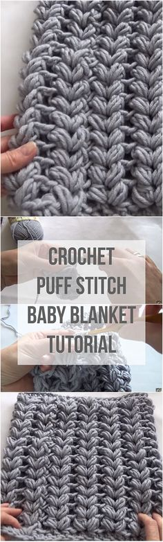 If you were searching for a tutorial to crochet a puff stitch baby blanket, then this article is perfect for you. It comes with a free video tutorial! | Free Crochet Video For Beginners | Crochet Puff Stitch Baby Blanket For Beginners | Puff Stitch Free Video Tutorial For Beginners | Crochet Baby Blanket For Beginners | Crochet Free Video Tutorial | Free Puff Stitch Tutorial | Crochet Baby Blanket |