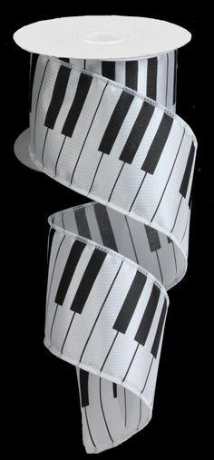 """2.5""""X10YD PIANO KEYS - #s.5"""" #RG # ribbon"""