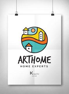 Home Logo Design House Real Estate Decor Company Premade Etsy Shop Interior Art