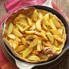 Baked Peach Pancake Recipe from Taste of Home -- shared by Nancy Wilkinson of Princeton, New Jersey