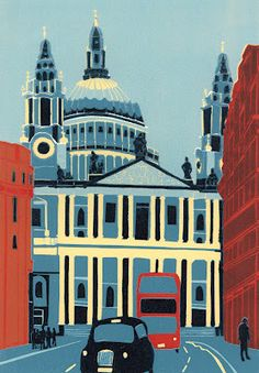 Jennie Ing   St Paul's Cathedral from Ludgate Hill,