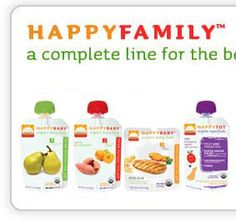 HappyBaby food line. I make most of little man's food but sometimes you can't carry fresh food with you. These are great. We've used the cereals, puffs, munches, yogis, and the pouches.