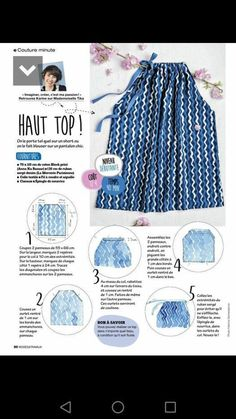 Image – Simple pattern for sewing a top, to fit all sizes. – The p … - DIY Clothes Dress Sewing Patterns, Sewing Patterns Free, Clothing Patterns, Sewing Hacks, Sewing Tutorials, Sewing Projects, Sewing Tips, Sewing Clothes, Diy Clothes