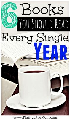6 Books You Should Read Every Single Year. These six books are great to re-read each and every year to motivate and inspire you toward your financial and organization goals.--note, the author of the article lists 9 books, not Books You Should Read, I Love Books, Great Books, Books To Read, My Books, Love Reading, Reading Lists, Book Lists, Reading Books