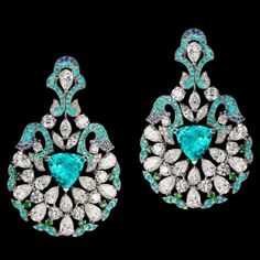 Paraiba tourmaline earrings by Orlov Jewelry