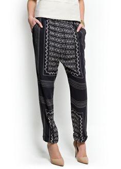 MANGO Geometric print tapered trousers #ItsAllAboutAfricanFashion #AfricanPrints #kente #ankara #AfricanStyle #AfricanFashion #AfricanInspired #StyleAfrica #AfricanBeauty #AfricaInFashion