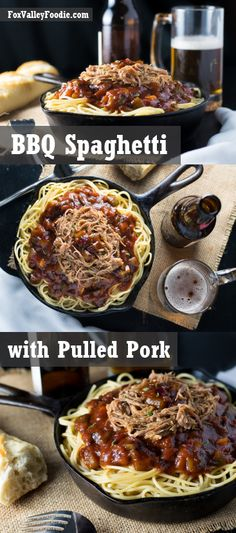 BBQ Spaghetti with Pulled Pork