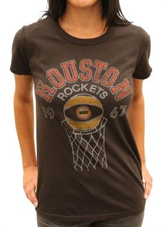 Women's NBA Houston Rockets 1967 Shirt by Junk Food $26 at Old SchoolTees.com