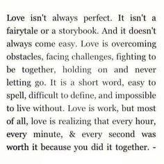 Love isn't always perfect quote