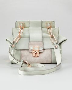 LOVE the colors! omg the rose gold is so beautiful / unexpected!    Noelle Flap Shoulder Bag by Kooba at Neiman Marcus.