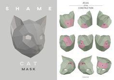 Make Cat Mask DIY Animal Head Instant Pdf download Paper