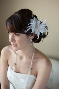 Image of Bridal Feather Hairpin - VIOLET