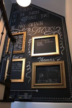 Awkward+Wall+Gets+a+Chalkboard+Paint+Makeover