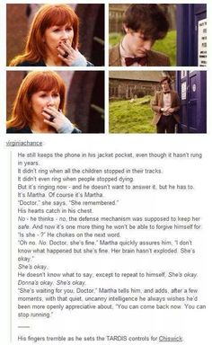 HOLY TARDIS OF GALLIFREY I DIDN'T EXPECT THAT TODAY *cries internally*