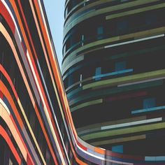 Minimalist Photographs of a Colorful Building in Hamburg. Photo by Lars Focke
