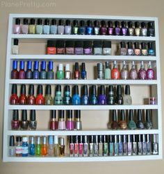 Plane Pretty | Fashion Blog: Nail Polish Storage - DIY Shelf. Definitely helpful, i will be making this one day