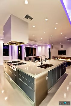 50 Best Kitchen Design Ideas for 2016 More - - dream house luxury home house rooms bedroom furniture home bathroom home modern homes interior penthouse Luxury Kitchen Design, Contemporary Kitchen Design, Best Kitchen Designs, Dream Home Design, Luxury Kitchens, Interior Design Kitchen, Kitchen Ideas, Kitchen Decor, Modern Kitchens