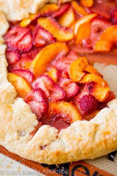 Repinned: A classic rustic galette recipe using summer's finest juicy fruits - basically like a free-form pie. It's so simple to make!