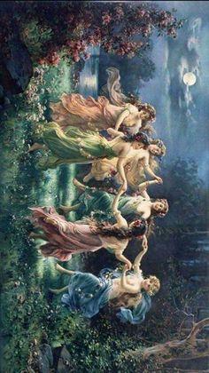 Fairy Dance Color - Hans Zatzka Art Renaissance ArtYou can find Renaissance and more on our website. Classical Art, Classic Art, Art Painting, Fine Art, Renaissance Art, Victorian Art, Painting, Fairies Dancing, Aesthetic Art