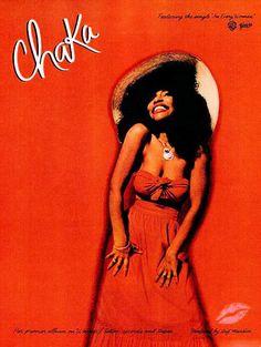 Ad for Chaka Khan's debut solo album (Ebony Magazine, December 1978)