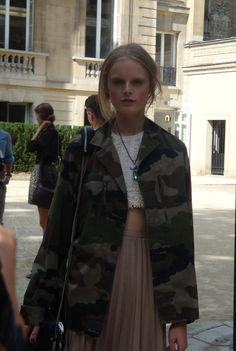 Hanne Gaby Odiele after Valentino show