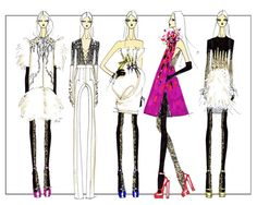At the drawing board for Prabal Gurung's Fall 2011 collection.