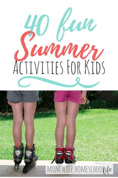 40 fun summer activities for kids to help ward off those cries of boredom when the Summertime excitement wears off...Summertime! The kids look forward to it all year. When it finally rolls around, they are super excited.