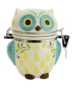 Another great find on #zulily! Floral Owl Hinge Jar #zulilyfinds