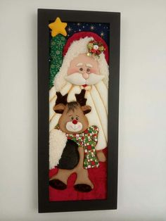 Santa Paintings, Christmas Patchwork, Projects To Try, Christmas Decorations, Paper Crafts, Snow, Queen, Holidays, Country