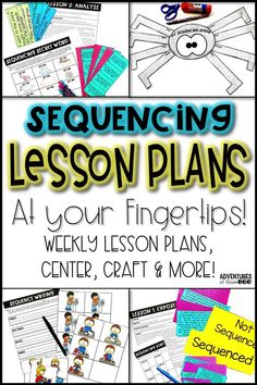 Teaching Sequencing? This resource has everything for your week of lesson plans. Unique ideas, anchor chart, graphic organizer, foldable, assessment, lessons and more! So many engaging activities to choose from to teach sequencing of a text. Transition words such as before, after, and first are covered! Much more than just worksheets, these classroom tested lessons will be perfect for your elementary class! You fun teaching while students have fun learning!