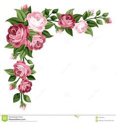 Capullos de rosa y hojas de las rosas de la vendimia color de rosa Stock de imágenes