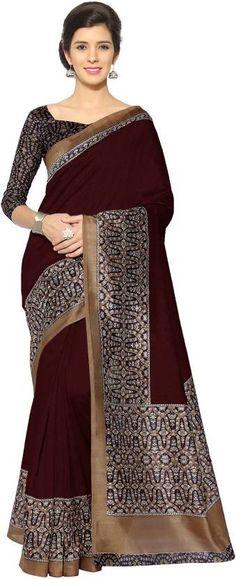 Divastri Printed Fashion Polyester, Art Silk Saree