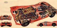 "917 cutaway not 917 cut away but the famous ""pink pig""!!!"