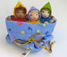 Waldorf Dolls - Polka Dots Lavender Babies