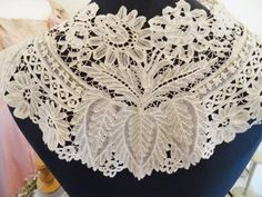 A Stunning Victorian Brussels Lace Bertha Collar | eBay