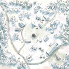 Conifer Forest Hamlet Winter Snow road n-w med Fantasy City Map, Fantasy Village, Dungeons And Dragons Memes, Dungeons And Dragons Homebrew, Snow Map, Pathfinder Maps, Forest Map, Village Map, Building Map
