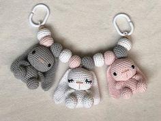 Crochet Baby Toys, Crochet Bunny, Crochet For Kids, Crochet Animals, Baby Knitting, Knit Crochet, Free Knitting, Crochet Doll Pattern, Easy Crochet Patterns