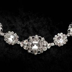 Erica Koesler crystal necklace // Bridal jewelry