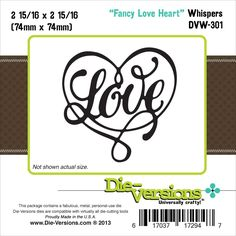 Die-Versions Whispers Die Fancy Love Heart