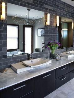 Get the Look: Double Bathroom Sink Vanities