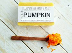 Pumpkin Soap  Who doesn't love pumpkins?! 100% fresh pumpkin puree blended with skin loving oils and butters!