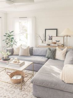 57 Impressive Small Living Room Ideas For Apartment. Are you looking for interior decorating ideas to use in a small living room? Small living rooms can look just as attractive . Living Room White, White Rooms, Small Living Rooms, New Living Room, Living Room Modern, Home And Living, Living Room Designs, Living Room With Gray Walls, Living Room Decor Grey Sofa