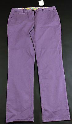 Boden Purple Casual Trouser Pants Womens Size 12 Long NEW