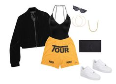 """""""gotta keep an eye out"""" by briannamazzola ❤ liked on Polyvore featuring Tom Ford, Fleur du Mal, NIKE, Lord & Taylor, Allison Bryan and Yves Saint Laurent"""