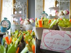 vegetables detials for this shabby chic tea party