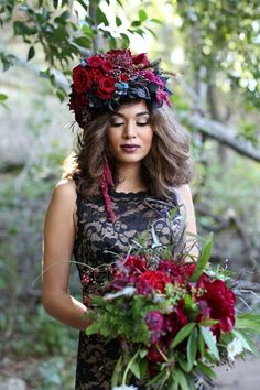 Fall Bridal Flower Crown   Sophie Epton Photography on @CVBrides via @aislesociety